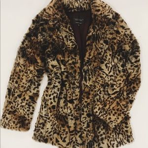 Sanctuary leopard fur winter coat